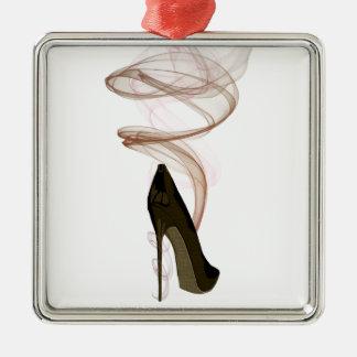 Arte del zapato del estilete de Smokin Ornamento De Navidad