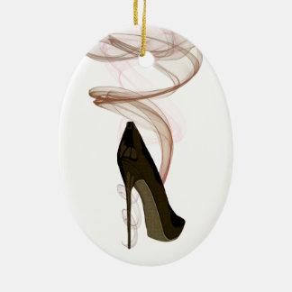 Arte del zapato del estilete de Smokin Adorno De Navidad
