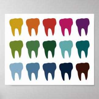 Arte dental del diente del dentista colorido del