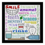 Arte dental del subterráneo de los términos impresiones