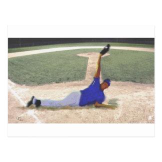 Arte difícil de la captura del béisbol postal
