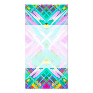 Arte digital colorido de la tarjeta de la foto que