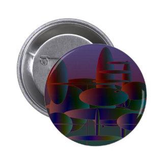Arte digital moderno de las elipses abstractas chapa redonda 5 cm