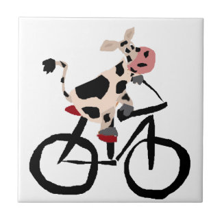 Arte divertido de la bicicleta del montar a azulejo cuadrado pequeño
