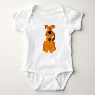 Arte divertido del perro de Airedale Terrier Body Para Bebé