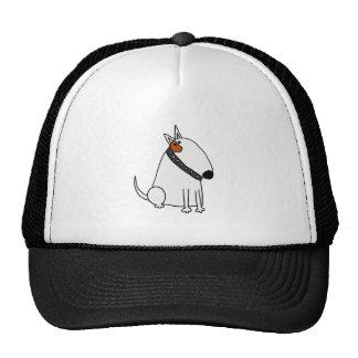 Arte divertido del perro de bull terrier gorros