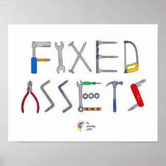 Arte divertido del poster de la contabilidad de