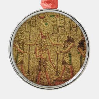 Arte egipcio antiguo de la pared del templo adorno para reyes