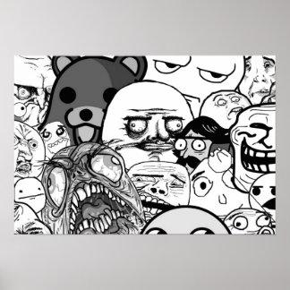 Arte el | de la pared la colección de Trollface