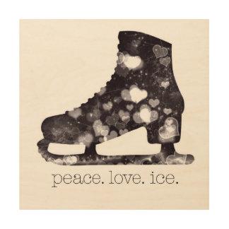 Arte el hielo del amor de la paz del patinaje