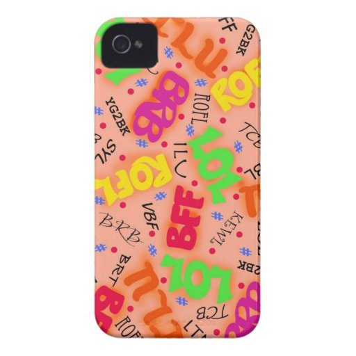 Arte electrónico colorido anaranjado Abbreviatio d Case-Mate iPhone 4 Fundas