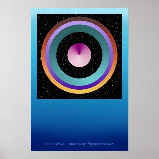 """ARTE EN ESPACIO"" cerca: Roberto Singletary Poster"