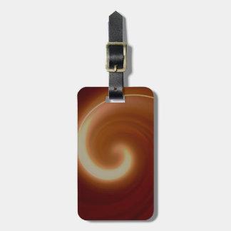 Arte espiral ligero oscuro de Brown Etiqueta Para Maletas