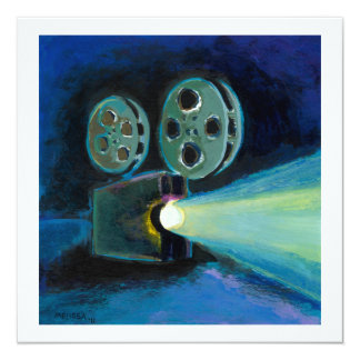 Arte expresivo colorido de la pintura del invitación 13,3 cm x 13,3cm