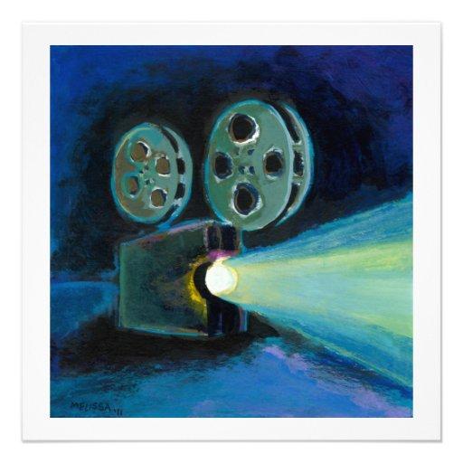 Arte expresivo colorido de la pintura del proyecto invitacion personalizada