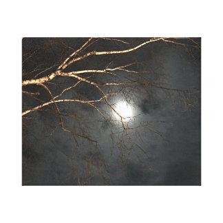 Arte fantasmagórico de la pared del cielo nocturno