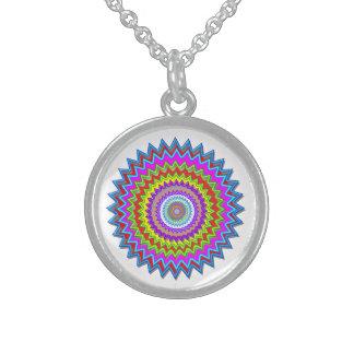 Arte feliz de Chakra: Plata esterlina Collares De Plata Esterlina