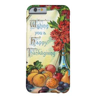 Arte feliz de la cosecha de la caída del vintage funda de iPhone 6 barely there