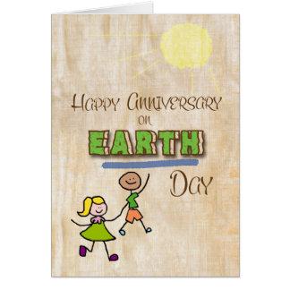 Arte feliz de la palabra del humor del aniversario tarjeta de felicitación
