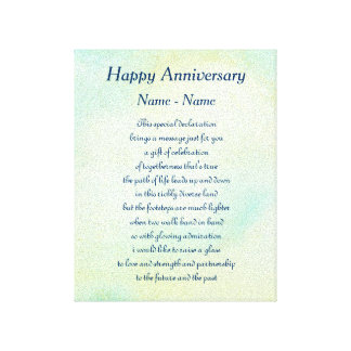 Arte feliz personalizado del poema del aniversario