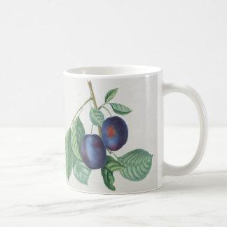 Arte floral de la fruta del vintage taza