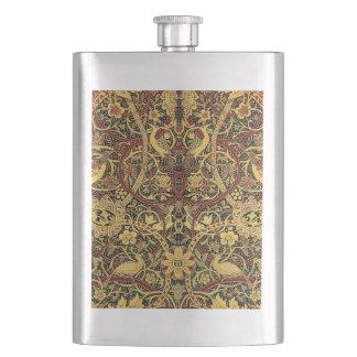 Arte floral de la tapicería de William Morris Petaca