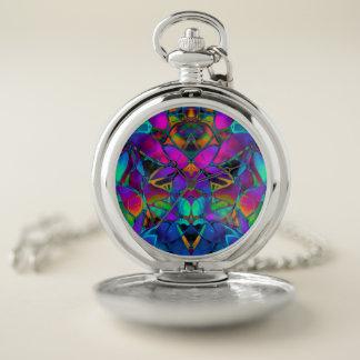 Arte floral del fractal del reloj de bolsillo