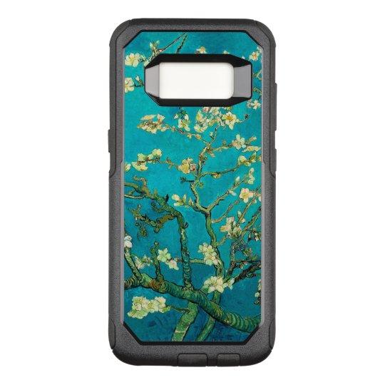 Arte floral floreciente del árbol de almendra de funda otterbox commuter para samsung galaxy s8
