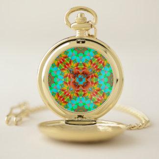 Arte floral G410 del fractal del reloj de bolsillo