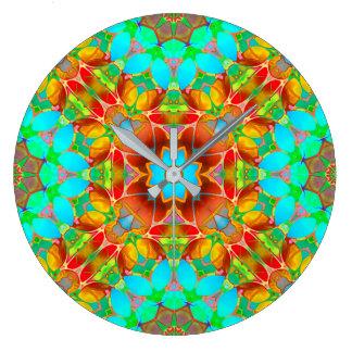 Arte floral G410 del fractal del reloj de pared