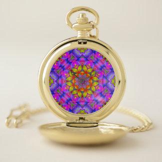 Arte floral G445 del fractal del reloj de bolsillo