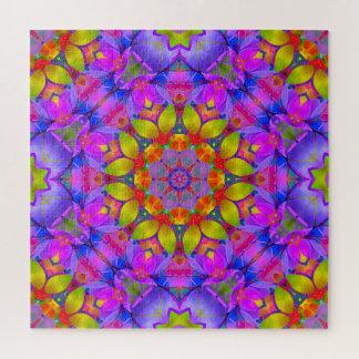 Arte floral G445 del fractal del rompecabezas