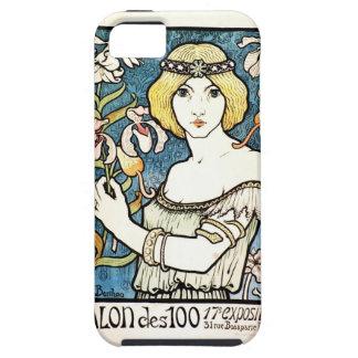 Arte francés Nouveau del centavo del DES del salón iPhone 5 Case-Mate Cobertura