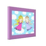 Arte gemelo de los chicas para la impresión envuel impresión en lienzo estirada