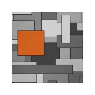 Arte geométrico abstracto gris anaranjado