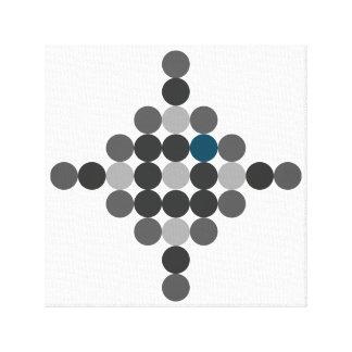 Arte geométrico de la aguamarina gris y azul