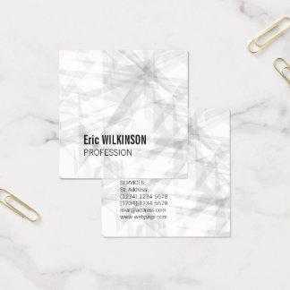 Arte geométrico del modelo abstracto tarjeta de visita cuadrada