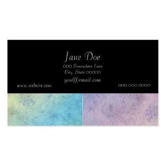 Arte geométrico en colores pastel de la acuarela tarjetas de visita