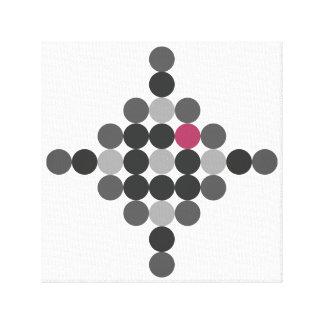 Arte geométrico gris y rosado