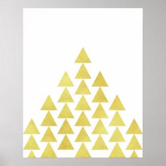 Arte geométrico minimalista moderno del triángulo póster