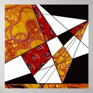 Arte geométrico y abstracto, multicolor de la