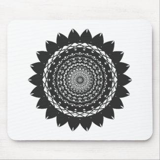 Arte girasol del vector negro tapete de raton