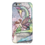 Arte gótico de la fantasía de la hada y del dragón funda de iPhone 6 slim
