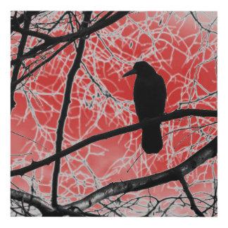 Arte gótico del panel de pared del cuervo
