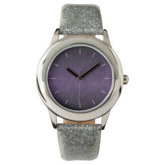 Arte gótico violeta del fondo de Ombre Reloj De Mano