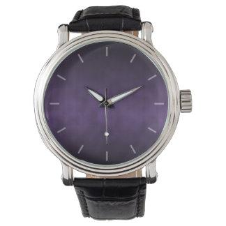 Arte gótico violeta del fondo de Ombre Relojes De Pulsera