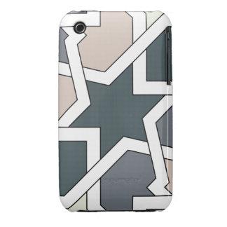 Arte gráfico 03 de línea y geomatría en grises Case-Mate iPhone 3 fundas