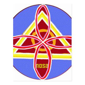 Arte gráfico del símbolo curativo de NOSA Karuna Postal