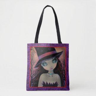 Arte grande de la fantasía del chica del ojo de la bolsa de tela