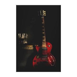 arte grande de la pared de la lona de la guitarra